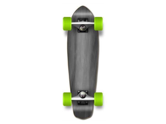 "Complete Longboard MiCro Cruiser Skateboard 25"" X 7"" - Black"