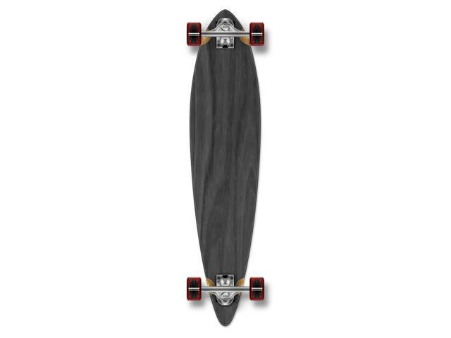 "Complete Longboard PINTAIL Skateboard 40"" X 9"" - Black"