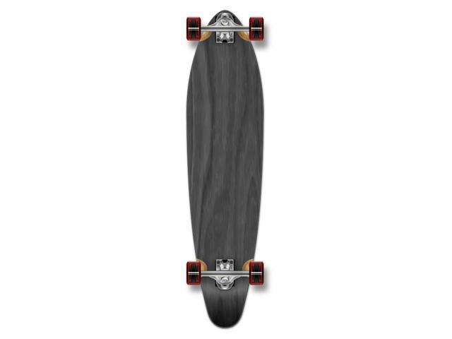 """Complete Longboard KICKTAIL Skateboard 40"""" X 9.75"""" - Black"""
