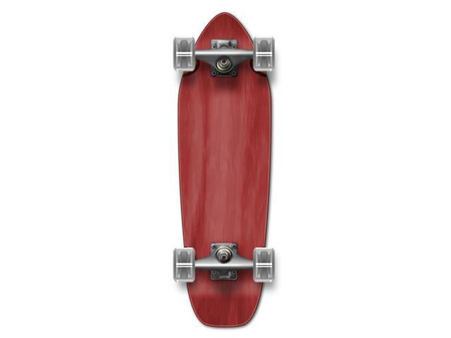 "Complete Longboard Mini Cruiser/ Banana Cruiser Skateboard 27"" X 8"" - Red"
