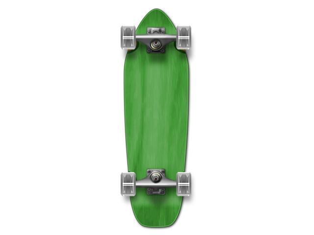 """Complete Longboard Mini Cruiser/ Banana Cruiser Skateboard 27"""" X 8"""" - Green"""