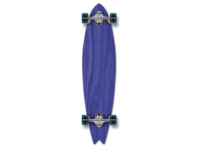 """Complete Longboard Fishtail Skateboard 40"""" X 9.75"""" - Blue"""