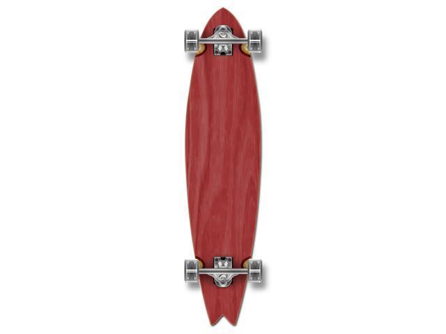 """Complete Longboard Fishtail Skateboard 40"""" X 9.75"""" - Red"""