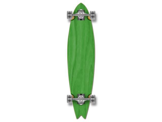 """Complete Longboard Fishtail Skateboard 40"""" X 9.75"""" - Green"""