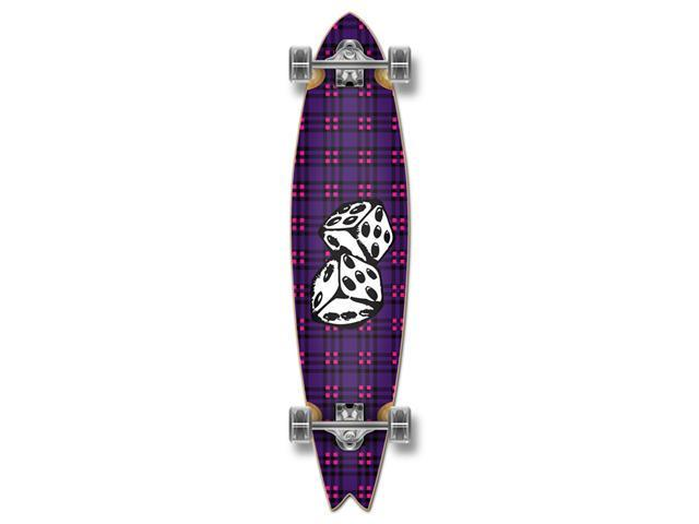 Graphic Complete Longboard Fishtail Skateboard 40