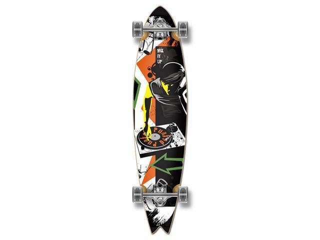 "Graphic Complete Longboard Fishtail Skateboard 40"" X 9.75"" - MIXITUP"