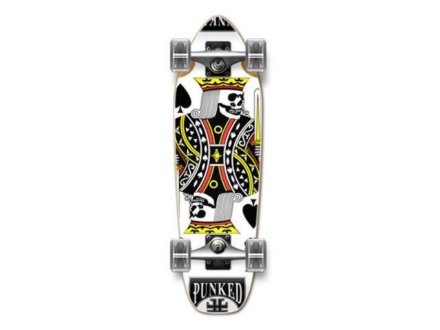 "Complete Longboard Mini Cruiser/ Banana Cruiser Skateboard 27"" X 8"" - King Of Spades"