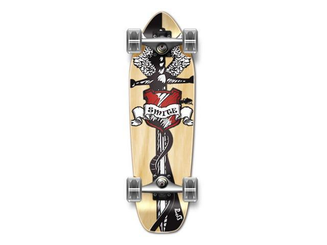 "Complete Longboard Mini Cruiser/ Banana Cruiser Skateboard 27"" X 8"" - SMITE"