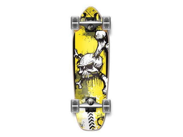 """Complete Longboard Mini Cruiser/ Banana Cruiser Skateboard 27"""" X 8"""" - YSKULL"""