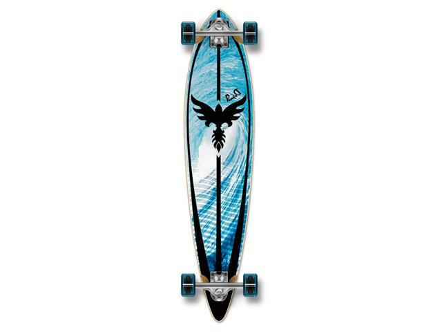 "Complete Graphic Longboard PINTAIL Skateboard 40"" X 9"" - Tsunami"