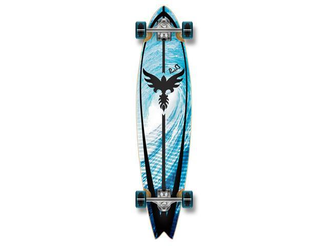 Graphic Complete Longboard Fishtail Skateboard 40