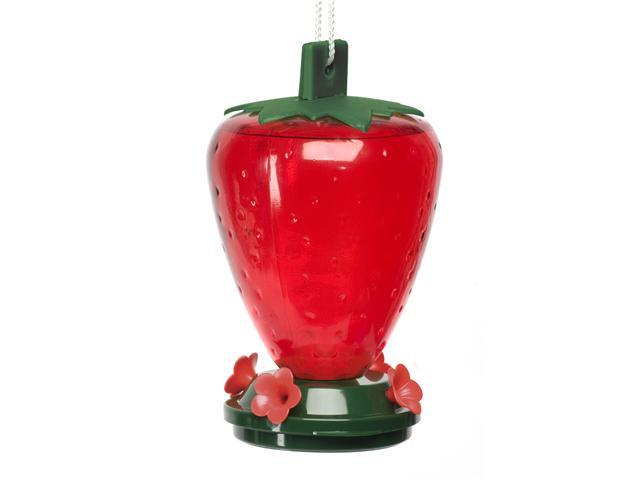 ArtLine 5557 - 50 oz Strawberry Shaped Hummingbird Feeder