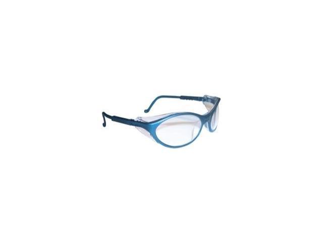 Bandit Slate Blue Frame Safety Glasses with Clear UD Lens