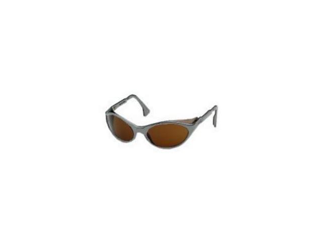 Bandit Slate Blue Frame Safety Glasses with Amber Lens