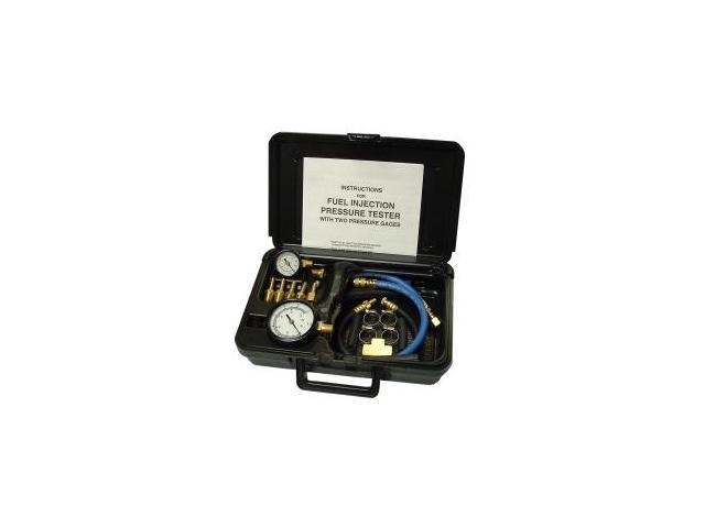 Fuel Injection Pressure Tester with Two Gages in Molded Plastic Storage Case