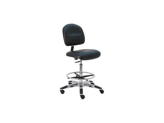 BenchPro Deluxe HD Ergonomic ESD  - Anti Static Vinyl Chair w/ aluminum base - Blue