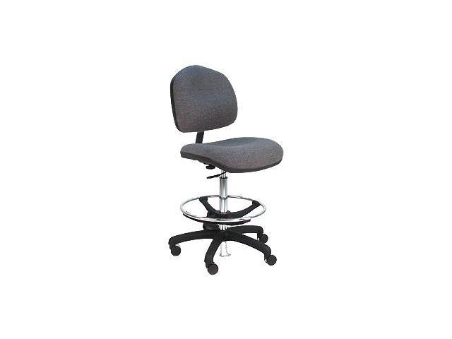 BenchPro Deluxe HD Ergonomic ESD  - Anti Static Fabric WIDE Chair w/ foot ring - Dark Blue