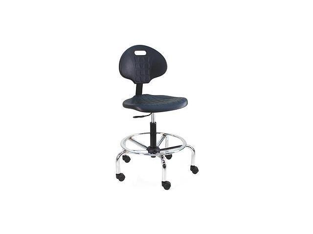 BenchPro Deluxe Cleanroom Lab Chair / workbench stool with chrome base