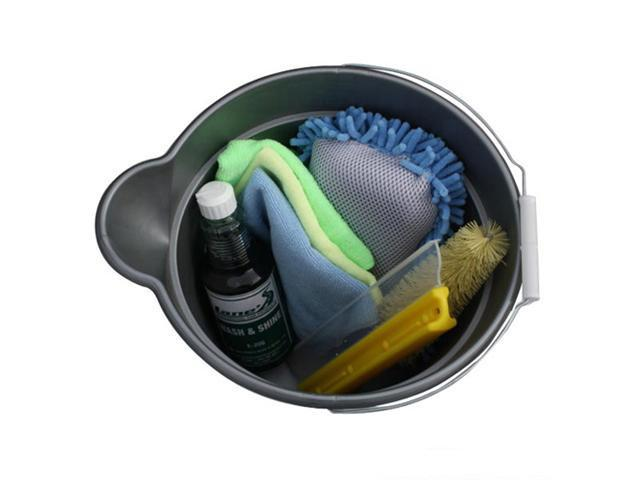Car Wash Bucket Kit Contains All The Supplies Needed To Wash Your Car Newegg Com