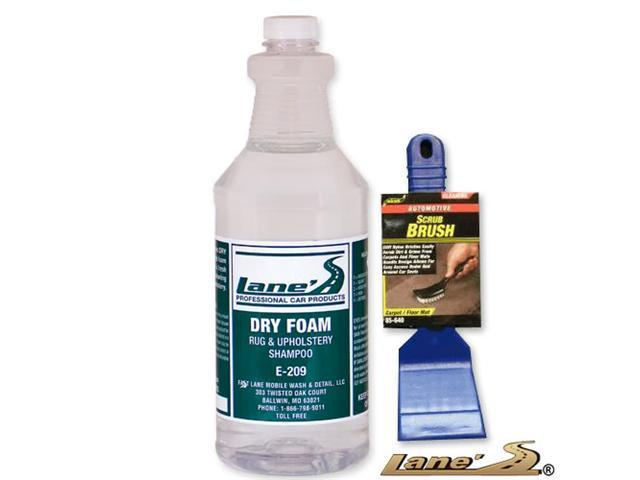 Dry Foam Professional Carpet Upholstery Seat Cleaner & Carpet Scrub Brush Kit
