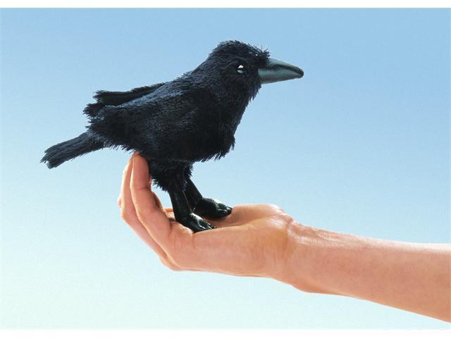 Folkmanis Puppet Mini Raven 7