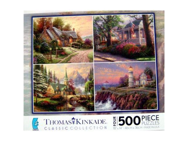 4 in 1, 500 Piece Thomas Kinkade Multi Pak
