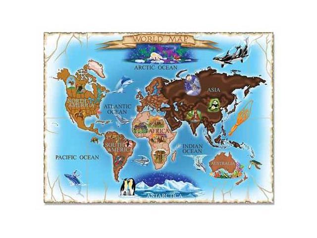 0500 pc Map of the World Cardboard Jigsaw
