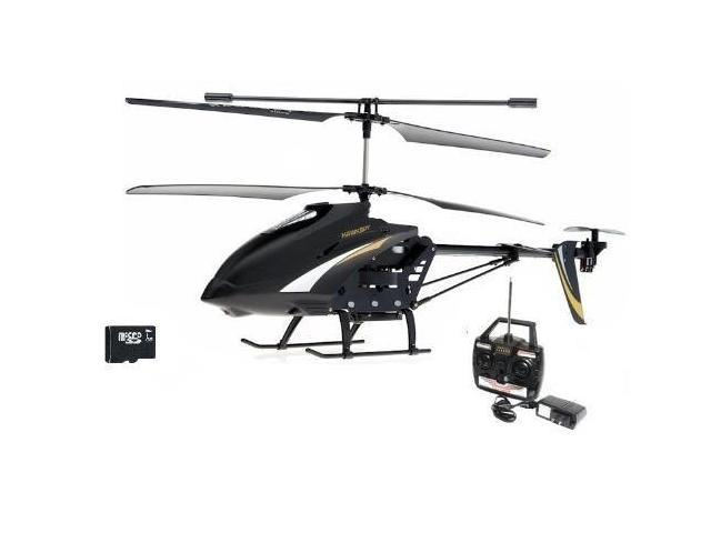 """SPY HAWK 3.5CH Metal RC helicopter RTF + Gyro and SPY Camera + 1 GB SD memory card - Large Size 12"""" wide"""
