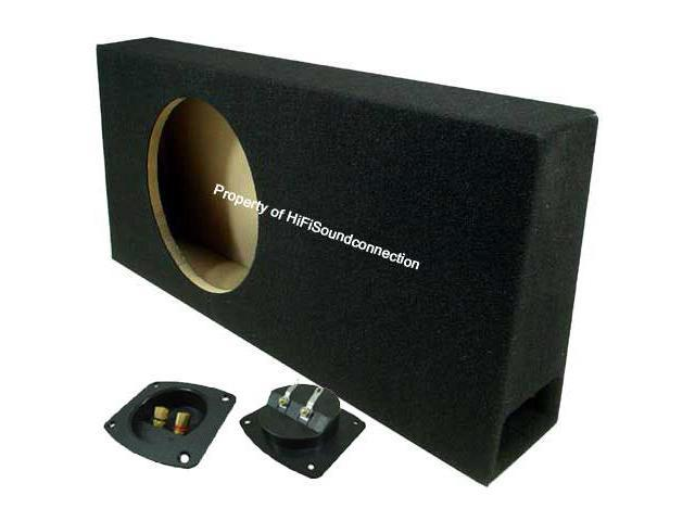 CAR AUDIO SINGLE 12 SLIM PORTED TRUCK SUBWOOFER STEREO BASS SPEAKER SUB BOX