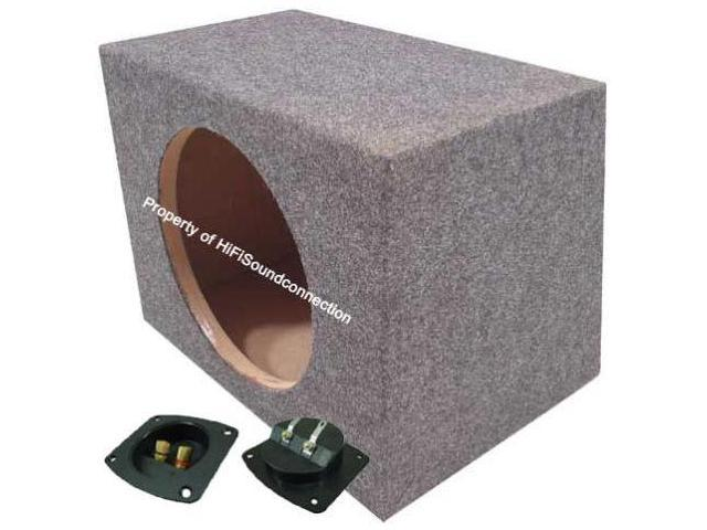 SINGLE 15 SEALED CAR AUDIO SUB BOX BASS SPEAKER SEALED SUBWOOFER ENCLOSURE