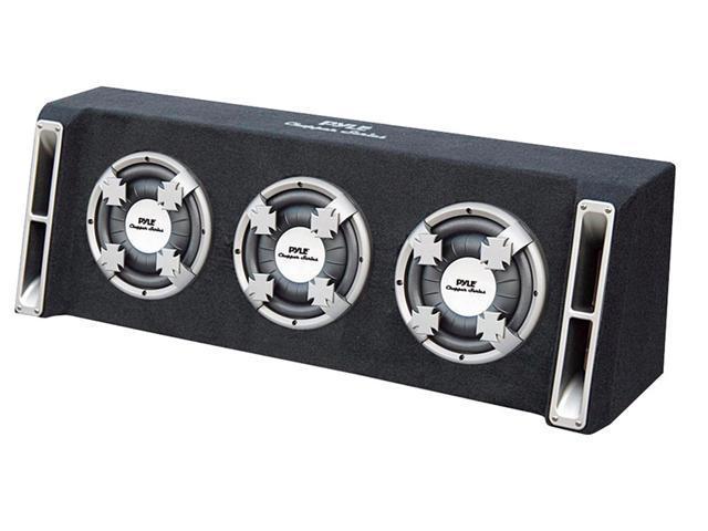 PYLE CAR AUDIO PL310TS NEW TRIPLE 10 INCH SLIM DESIGN SUB BASS BOX ENCLOSURE