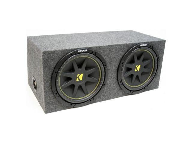 "KICKER DUAL 10"" COMP SUB C10 LOADED ENCLOSURE BOX NEW"