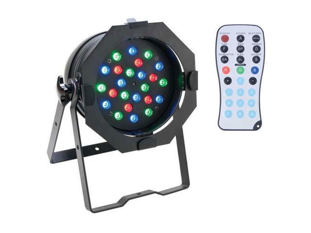 AMERICAN DJ PRO 64B LED RC STAGE LIGHTING 24 LED 1W CHURCH WASH LIGHT W/ REMOTE