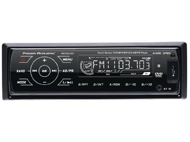 POWER ACOUSTIK PADVD 220 NEW IN DASH DVD MP3 CD RCVR