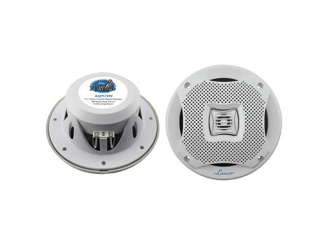 LANZAR AQ7CXW NEW 7.7'' 2-WAY 500 WATTS MARINE SPEAKERS WHITE COLOR - 1 PAIR