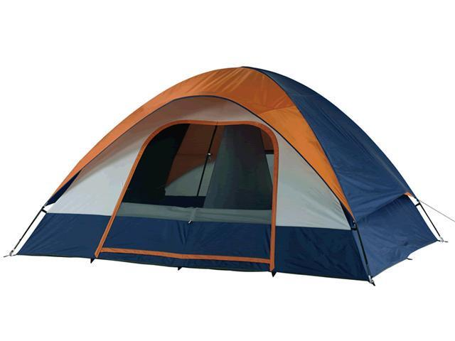 Wenzel Salmon River 2 Room Family Dome Tent - Orange/Blue