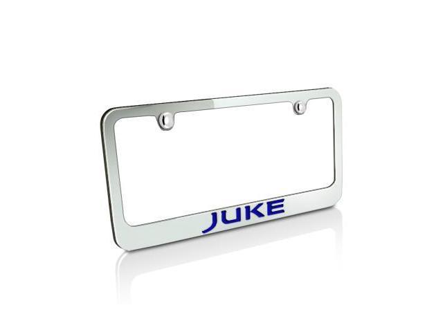 Nissan Blue Juke Chrome Brass License Plate Frame