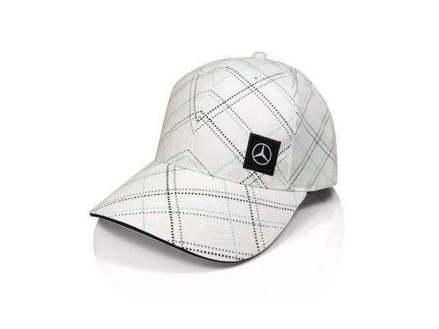 Mercedes benz white screenprint baseball cap for Mercedes benz baseball caps