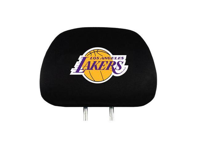 NBA Los Angeles Lakers Logo Car Seat Head Rest Covers, Pair