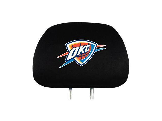 NBA Oklahoma Thunder Logo Car Seat Head Rest Covers, Pair
