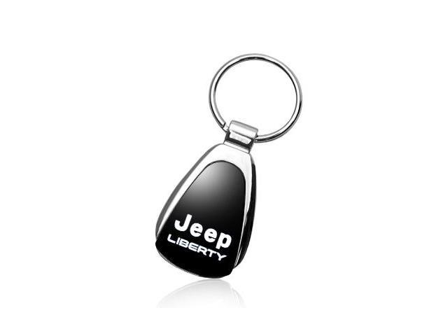 Jeep Liberty Black Tear Drop Key Chain