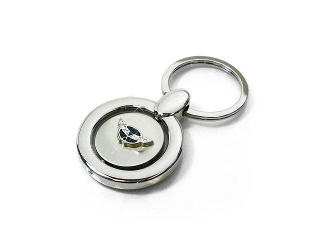 Corvette C5 Logo Silver Spinner Key Chain