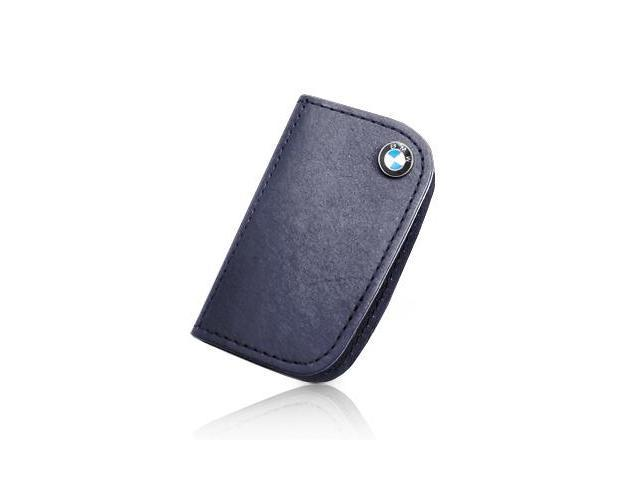 BMW Leather Key Case Blue BMW FOB BLUE