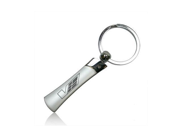 Cadillac V Logo Blade Style Metal Key Chain