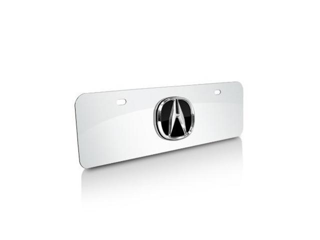 Acura 3D Logo Half-size Chrome Steel License Plate