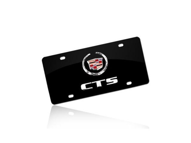 Cadillac CTS Black Stainless Steel License Plate