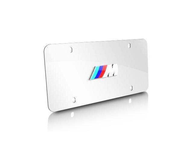 BMW M Logo Polished Steel License Plate