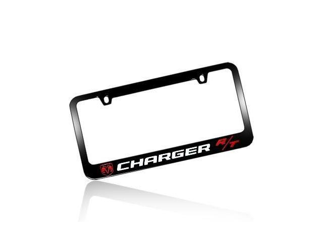 Dodge Charger R T Black Metal License Plate Frame Newegg Com