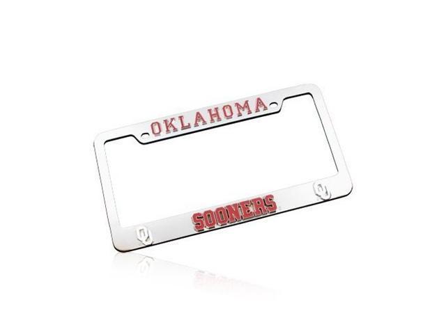 University of Oklahoma Sooners 3D Chrome License Frame
