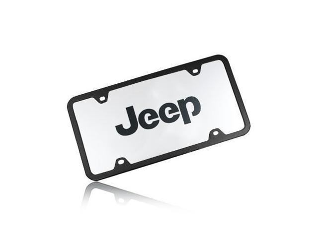 Jeep Nameplate Acrylic License Plate with Frame